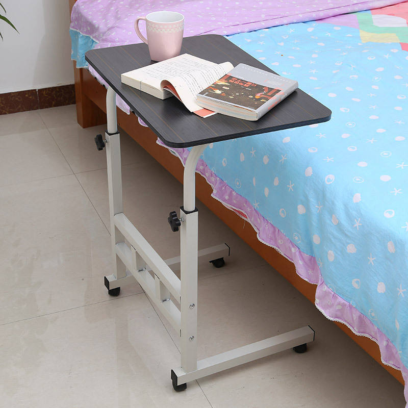 Bedside adjustable laptop computer lifting laptop table with wheels
