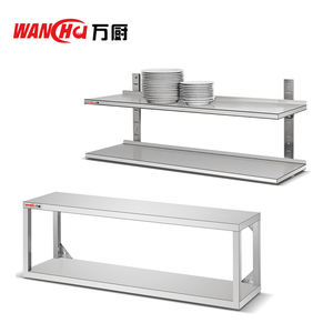 Stainless Steel Commercial Wall Kitchen Shelf/Kitchen Corner Accessories Rack/2 Tiers Dish Storage Rack Factory