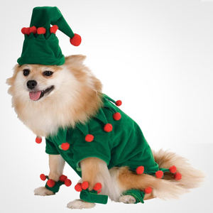 Cheap Price Wholesale 2020 Pet Dog Cat Accessories Christmas Clothes Hat One Set For Pet Christmas and Halloween Decoration