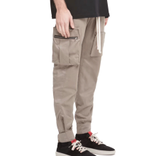 Side Pocket Trousers Multi Pockets Mens Slim Fit Custom Cargo Pants