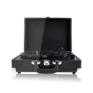 Portable Suitcase Vintage Multifunction Retro Bluetooth LP Music Vinyl Record Player With Speakers