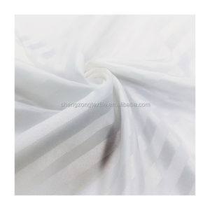 Super grade 100%polyester stripe used hotel bed sheets twill fabric hot sale