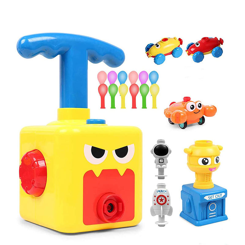 Factory Preschool Science Air Powered Racers Launcher Cars Juguetes Manual Balloon Pump Car Baby Kid ToysためKids