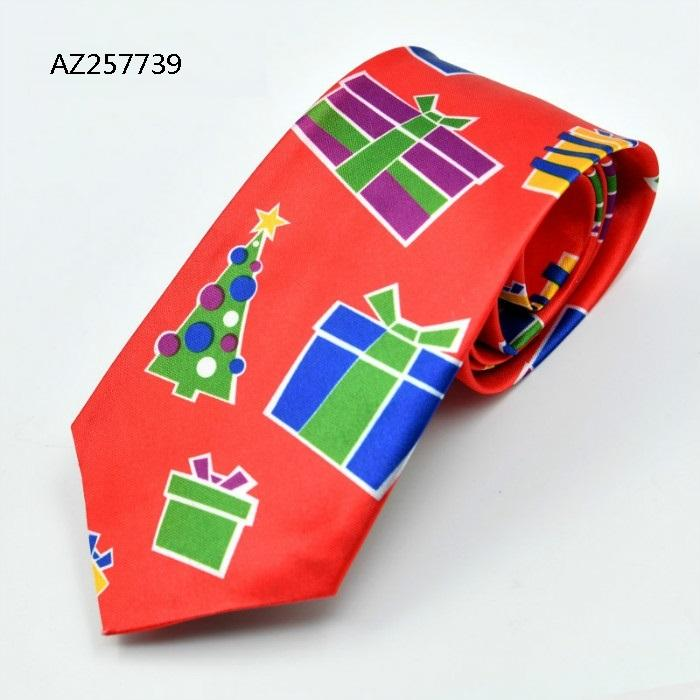 Custom Men's Flower Tie Best Men's Christmas Knit Microfiber Tie AZ257739