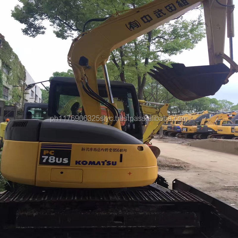 Japan used mini excavator hydraulic crawler 7ton komatsu PC78US Secondhand excavator