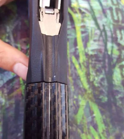 underwater carbon fiber spear gun barrel with integrated spear guide