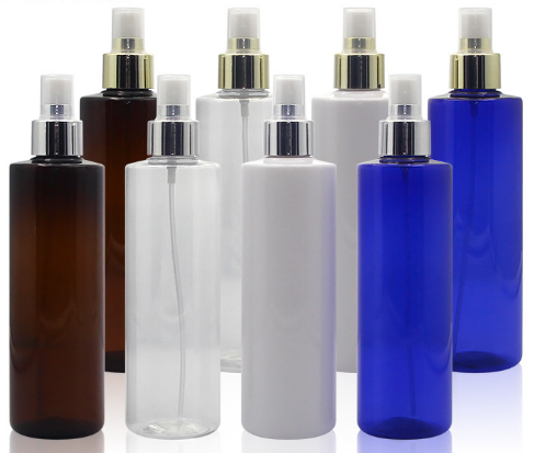 Hot sales 100ml 150ml 250ml 500ml colorful PET plastic perfume spray mist bottle