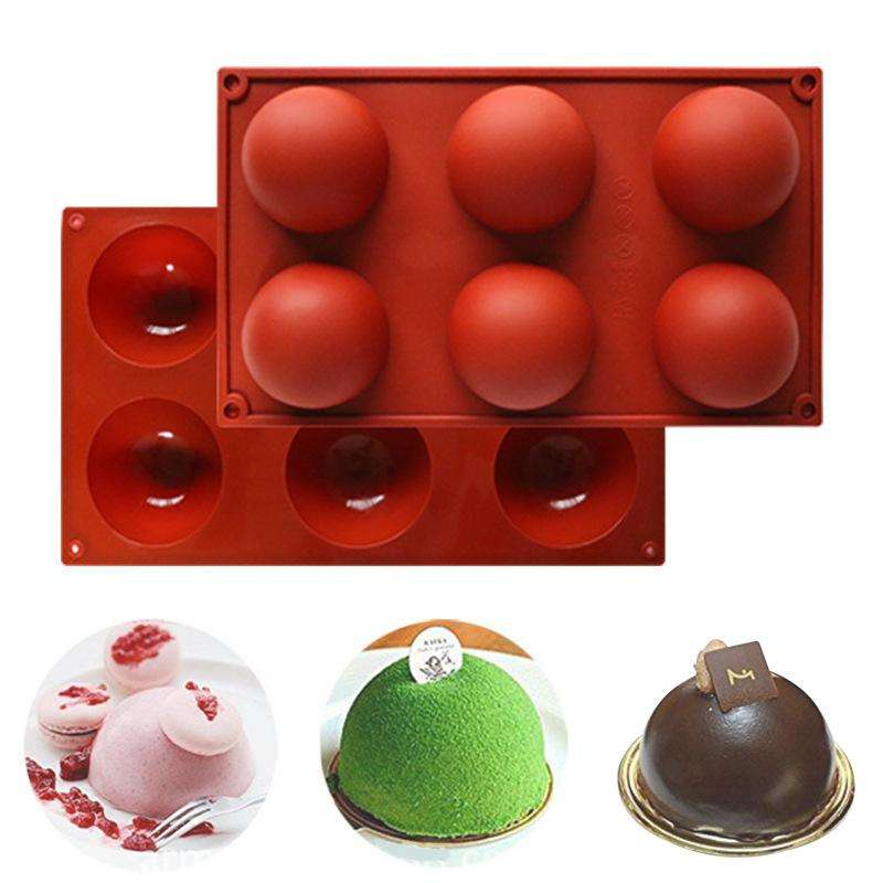 A2996 DIY Nonstick Food Grade Silicone Ball Mould Cookies Baking Tool Cake Baking Mold Half Sphere Silicone Molds for baking