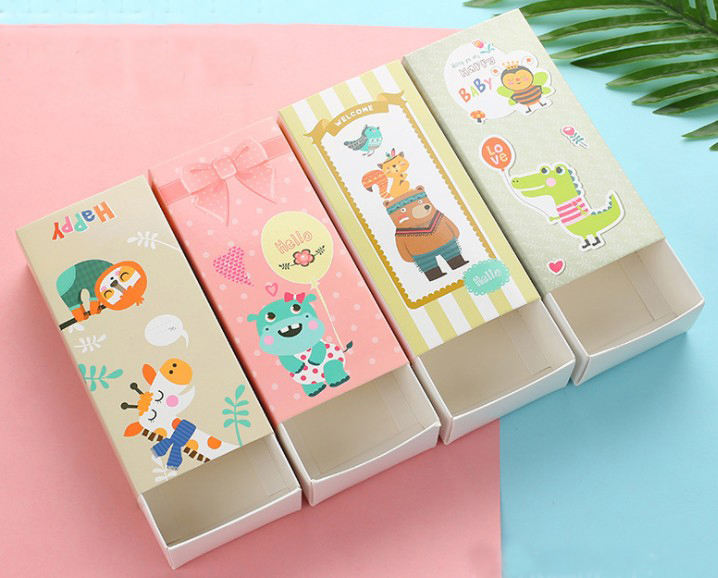 hot selling folding child style sock packaging paper boxes (only boxes)