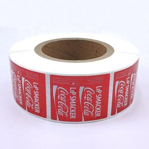 Factory Price Roll Adhesive Vinyl Cosmetic Bottle Stickers OEM Custom Logo Printing Lipgloss Private Labels