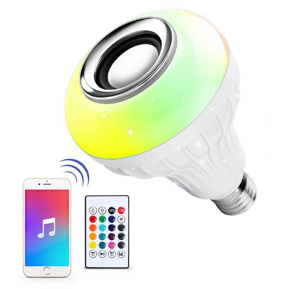 Chinese low price China LED RGB Bluetooth Speaker Bulb Light with Remote Control