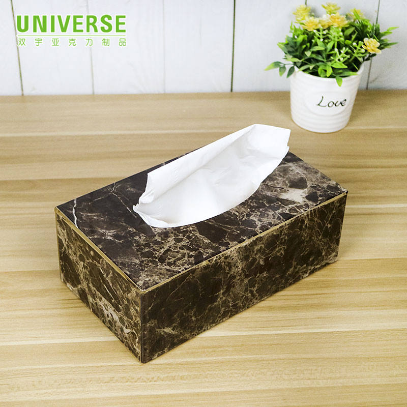 UNIVERSE Custom counter top factory directly rectangular fancy acrylic tissue box holder