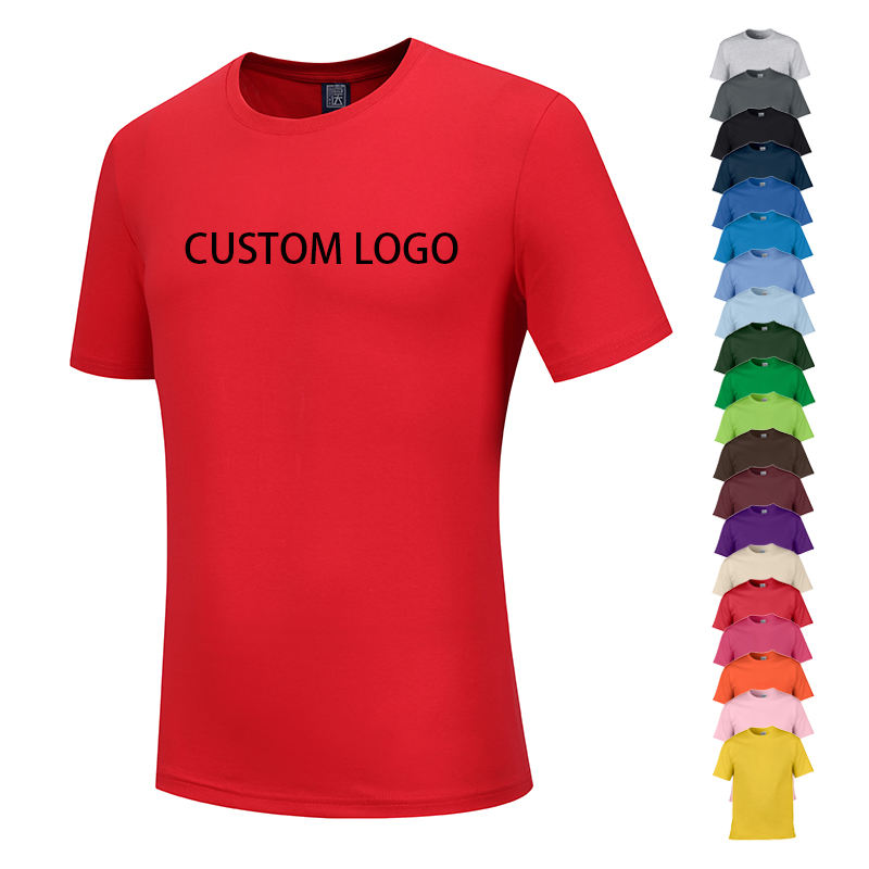China wholesale cheap plain tshirt 100% cotton blank white custom logo t- shirts silk screen printing men women t shirt