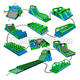 Giant Inflatable 5k Game Adult Inflatable Obstacle Course ; Event Giant Insane Inflatable 5k Obstacle For Sale