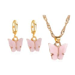 Fashion trendy accessories earrings necklace acrylic butterf