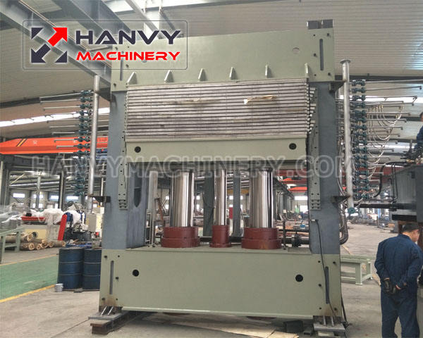 Hanvy 600ton Press For Plywood