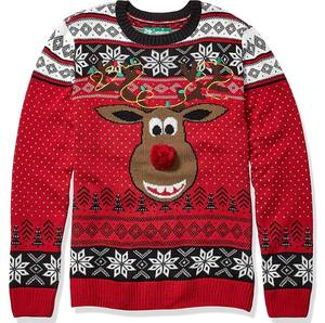 Loose Tops Christmas Jacquard Embroidery Knitwear Christmas Acrylic Pullover Sweater