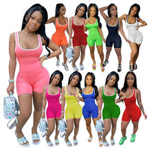 06BF082 2020 Ladies summer hot selling fashion Sexy sport Jump Suit Sexy Women One Piece Jumpsuits And Rompers For Woman
