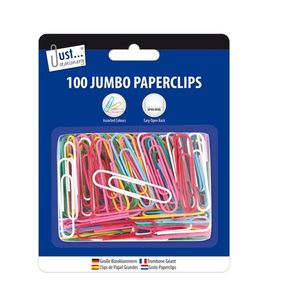 100 grote plastic paperclips