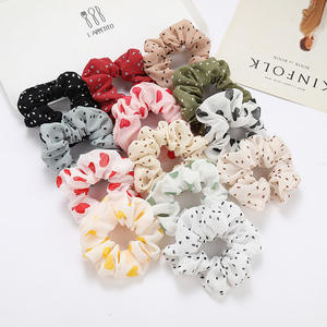 girl cute chiffon lady custom designer scrunchies chic accessories unique hair tie scrunchies