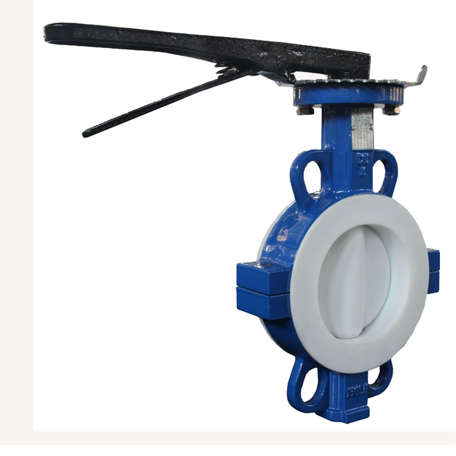 PTFE lined automatic control butterfly valve gear operation