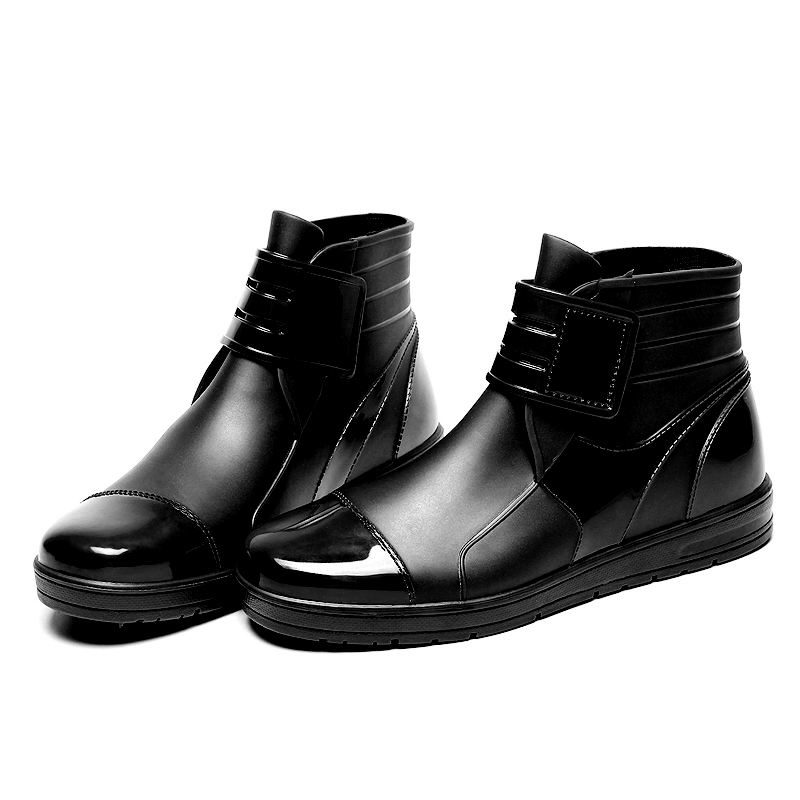 Boy Ankle Dripdrop PVC Waterproof Rain Boots