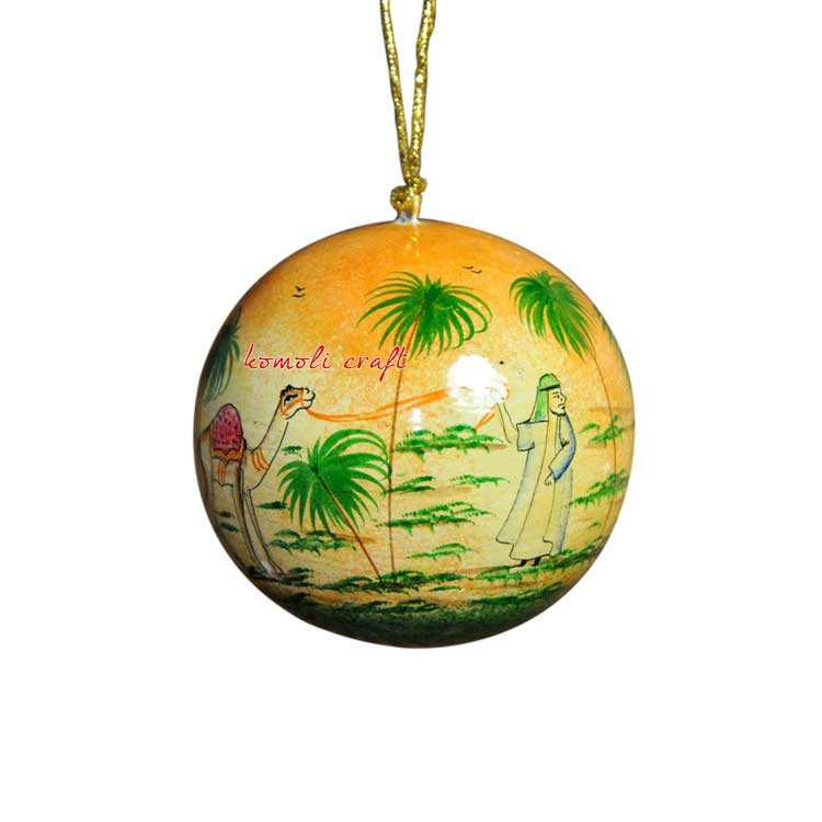 Story of a Desert indian christmas decorations ball hand painted custom wholesale christmas decorations