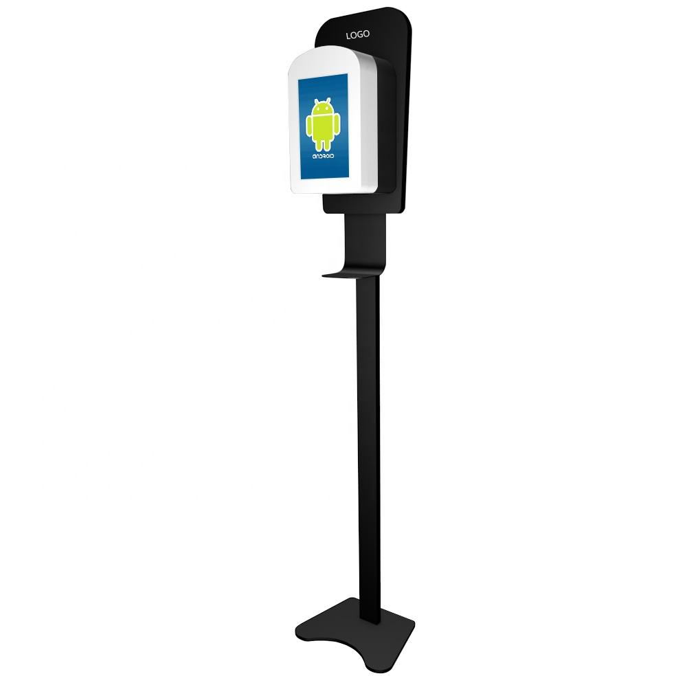 10inch screen with hand sanitizer dispenser hand dispenser kiosk wall mounted hand dispenser automatic with digital signage
