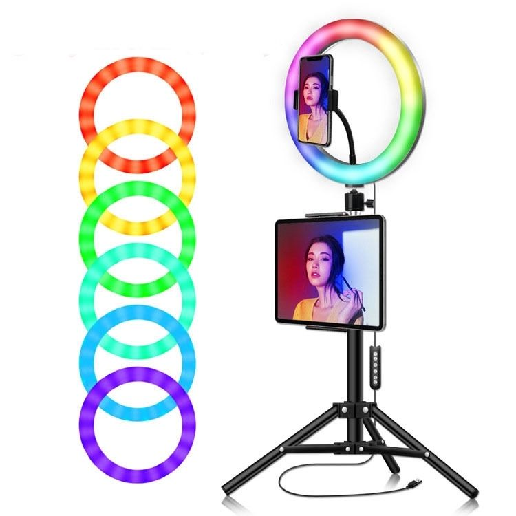 Hendefe Shenzhen LED Selfie Ring Light with Desk Stand for Makeup 12 inch Dimmable 10W 3200k-6500K Circular Beauty Lamp