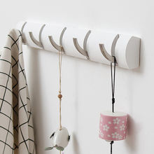 Wall Mounted Coat Hook Rack Hanger with Foldaway Metal Hooks to  Hats Bags Keys and More