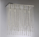 China Rectangular Clear Crystal 5-Light Chrome Ceiling Chandelier For Bar Decoration