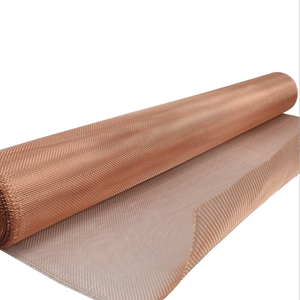 Fine Rf shielding red copper infused wire mesh fabric 99.99% pure cooper woven wire mesh cloth screen faraday cage sheet/ sheets