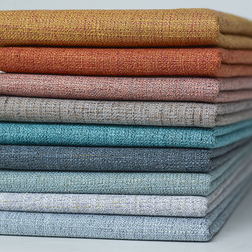 Best selling 2019 linen sofa fabric Upholstery fabric 100% polyester fabric