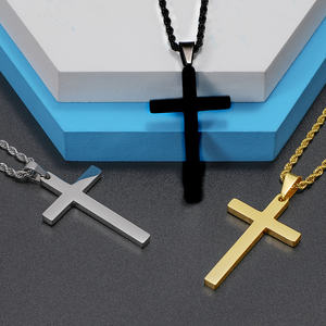 2020 Hot Stainless Steel Jewelry Unisex Christian Jesus Crucifix Necklace Pendant Modern Men Women Cross Long Necklace