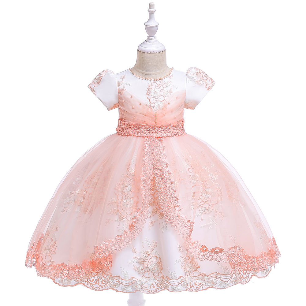 2020 Fashion Kids Summer Dress Ruffles Casual Party Holiday Dresses For Girls L5086