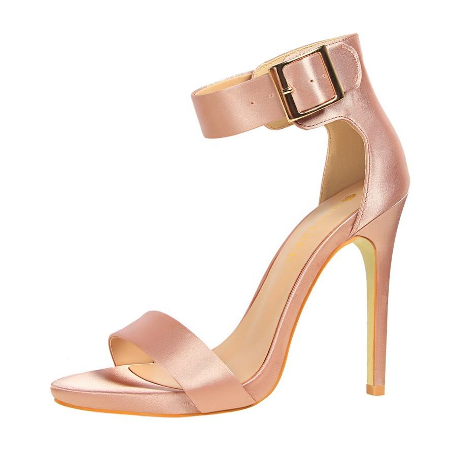 Latest Summer Buckle Strap Party Thin High Heel Ladies Women Large Size