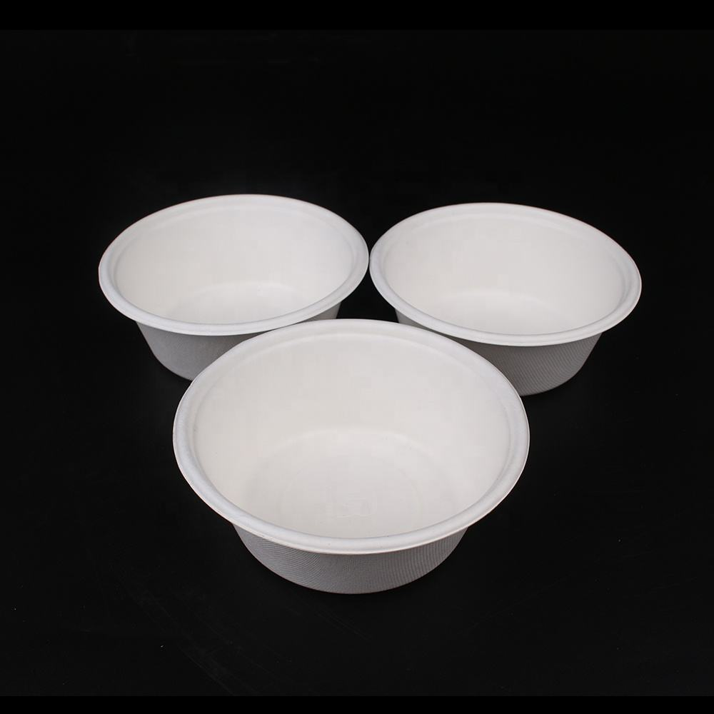 New material Cutomizabled disposable Bagasse dinnewanre take away bowls biodegradable compostable sugar cane bagasse pulp bowl