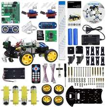 Robot Car Kit for Raspberry Pi - Real Time Image and Video Line Tracking Obstacle Avoidance with Camera Module Line Follower