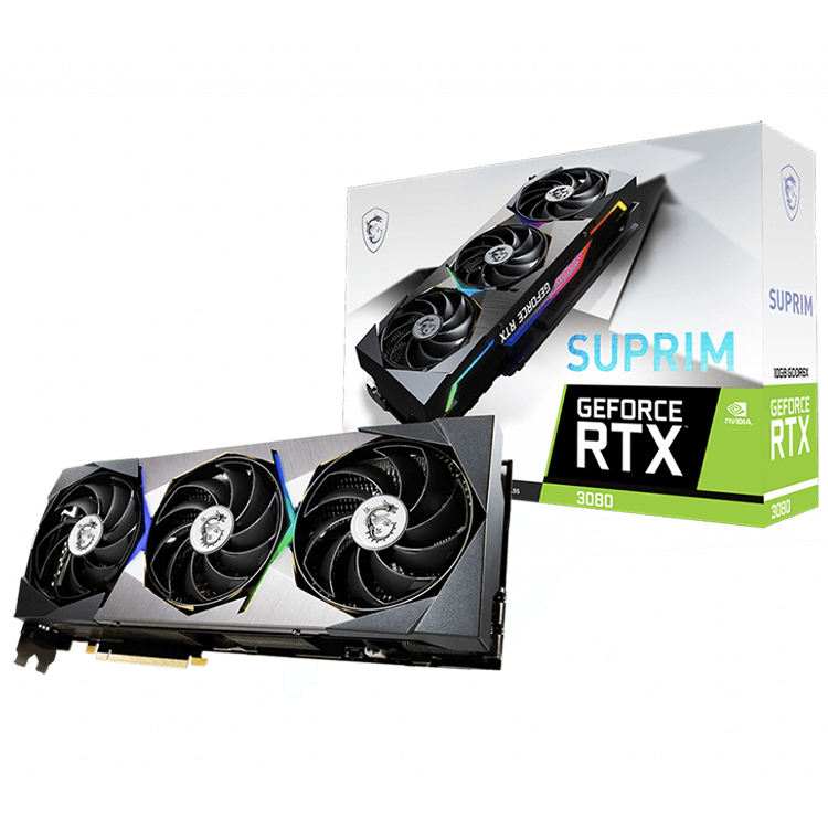 MSI NVIDIA GeForce RTX 3080 SUPRIM 10G High Performance Gaming Graphics Card with GDDR6X Memory Video Card Support OverClock