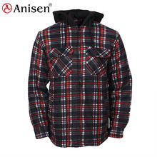 sherpa lined cheap low price worker staff top plaid winter jacket men