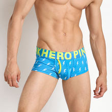 PH14 wholesale trend cartoon printing men underwear cotton sexy male underpant boxer trunk shorts briefs