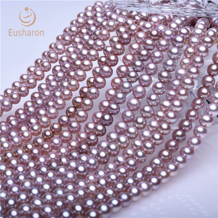 7-8mm AAA Bright And Flawless Round Beads Real Freshwater Pearl Jewelry Beads Of Women