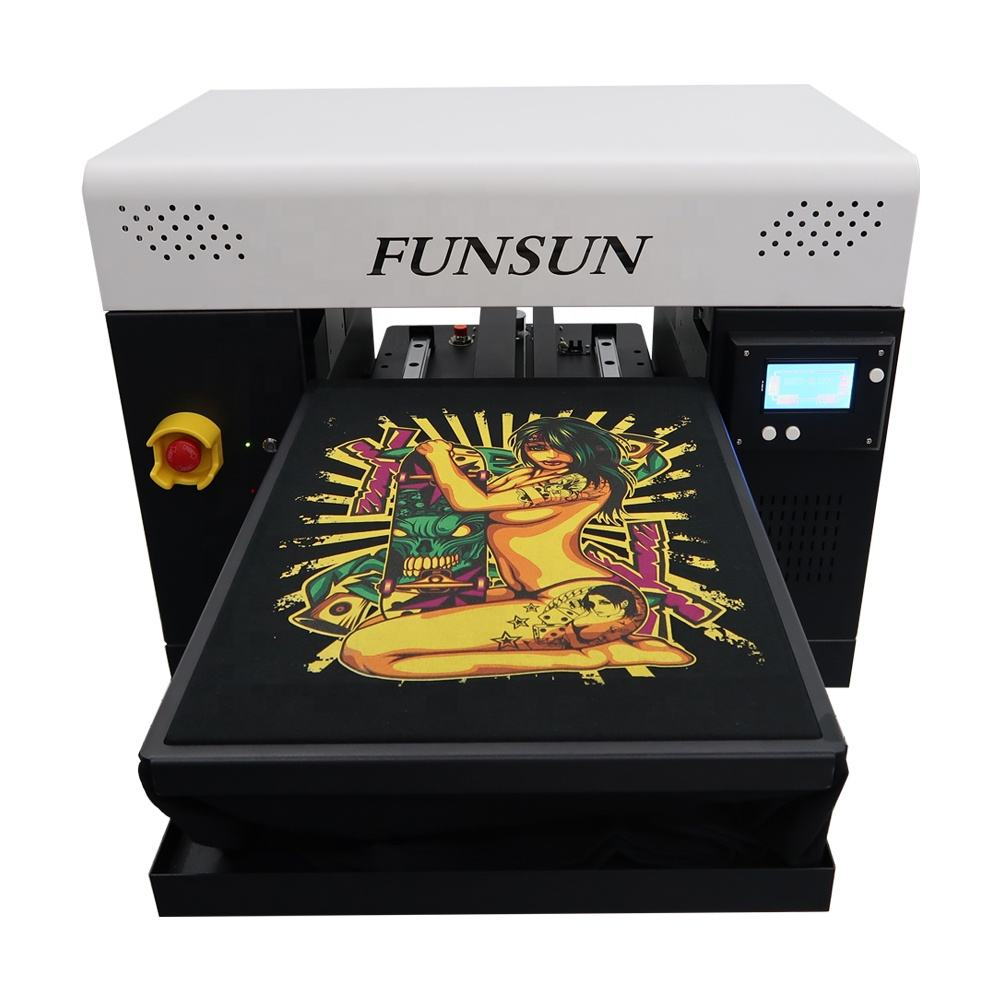 A3 Size Direct Naar Kledingstuk Dtg Flatbed Printer Digitale Inkjet T-shirt Drukmachine