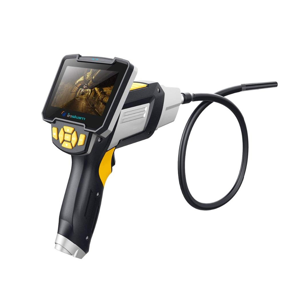 Dual Camera Digital Industrial Endoscope 1080P Borescope Inspection Camera Videoscope with 4.3 Inch LCD Screen for Pipe