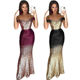 2020 Fashion Sexy Women Lady Elegant Off Shoulder Prom Cocktail Long Party Sequin Evening Dresses