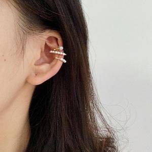 Funky Pearl Earrings Set for Girl Pearl Jewelry Retro Pearl Earring Clip on Ear Cartilage Daily Life Cross Cartilage Earrings