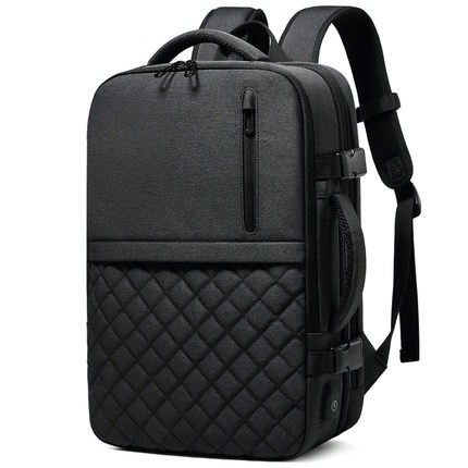 Business Water Resistant Polyester Laptop Bags Backpack with USB Charging computer casual tote travel bagpack
