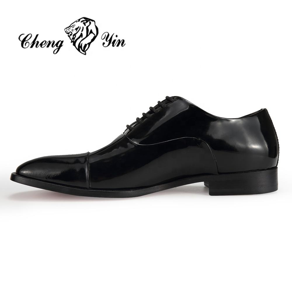New Arrival Brown Genuine Leather Elevator Height Increasing Dress dongguan stock lot man shoes in italy