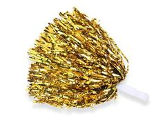 Promo Different color PET cheerleading metallic pom poms