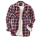 Casual Camisas Custom Flannel Sherpa Lined Mens Shirt Casual Full Sleeves Plus Size Shirts Camisas